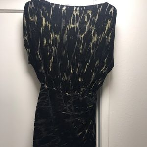Zara black and gold mini dress